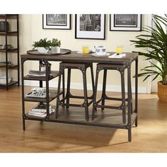 Terence 3 Piece Counter Height Dining Set Kitchen Dining Sets, Counter Height Dining Sets, Small Dining, Best Dining, Dining Room Sets, Small Space Living, Kitchen Chairs, Room Chairs, Dining Chairs