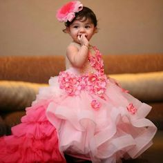 Beautiful full long dress for the cutest baby girl ..
