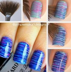 Cool (: I really need to try this technique! can you do my nails pleassssssssssssssssssssssss!!!!!!!!!!!!!!!!!!!