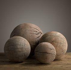"""Аксессуар для интерьера """"деревянные сферы"""" в ассортименте разные диаметры 19th C. Spheres"""