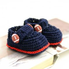 Blue and Red Football Booties - Blissful Mondays  NFL  Newengland 015eec76d39