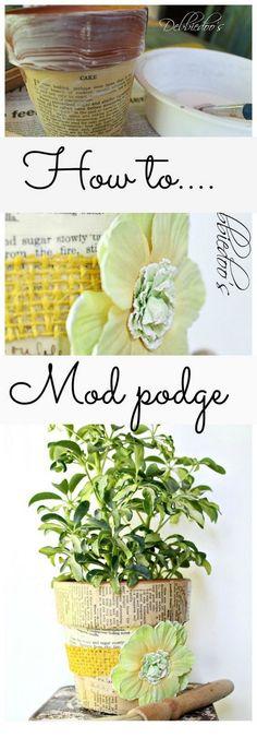 DIY Mod Podge Terra Cotta Pots.