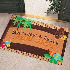Personalized Tiki Door Mat