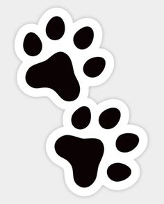Shop Paw print animal track sticker, black and white paw prints stickers designed by Mhea as well as other paw prints merchandise at TeePublic. Preppy Stickers, Cute Laptop Stickers, Bubble Stickers, Cool Stickers, Printable Stickers, Macbook Decal Stickers, Black And White Stickers, Homemade Stickers, Journal Stickers