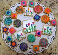 Spring Theme Garden cookies decorated with royal icing from Engineeredbaker