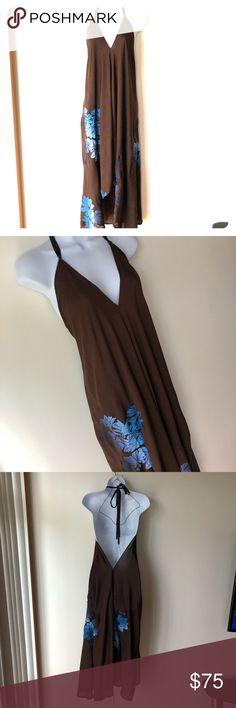 Kupu ae Molokai, hawaiian designer dress, 2017 Brown kupu ae Molokai dress. Small. Hand printed and dyed on Molokai. Very special piece. kupu ae molokai Dresses Maxi