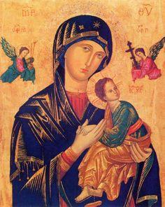 Nossa Senhora do Perpétuo Socorro, ícone bizantino cerca do século 13 ou século 14.