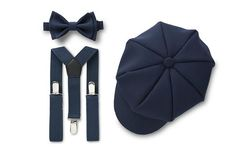 Navy Ring Bearer Outfit for Weddings Navy Blue Suspenders, Navy Blue Bow Tie, Suspenders Outfit, Suspenders For Boys, Denver, Navy Rings, Rustic Ring Bearers, Ring Bearer Outfit, Shiny Fabric