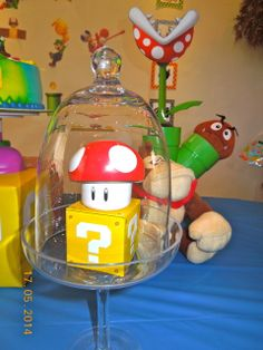 Super Mario Bros Birthday Party Ideas! See more party ideas at CatchMyParty.com!