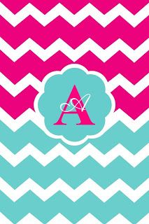 Monogram Wallpaper on Pinterest | Pink Chevron Wallpaper, Monogram