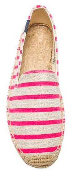 cute pink striped espadrilles