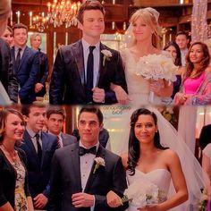 "#Glee 6x08 ""A Wedding"" - Kurt, Brittany, Blaine and Santana"