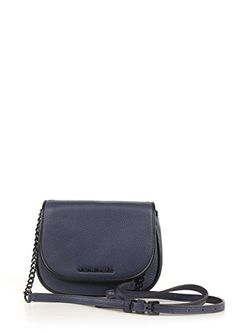 Women's Cross-Body Handbags - MICHAEL Michael Kors Jet Set French Binding Small Crossbody NavyBlack >>> Check out this great product.