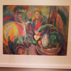 At the Sonia Delaunay exhibition at Tate Modern London Colour Rhythm