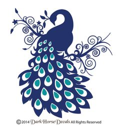 Peacock Wall Decal, Bird Wall Decal, vinyle Art Sticker on Etsy, 31,72$ CAD