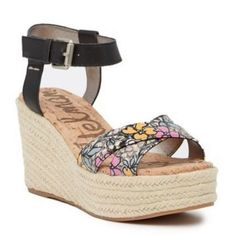 335861736ec9 Details about Sam Edelman Women s Black Destin Floral Espadrille Wedge  Sandals Size 7