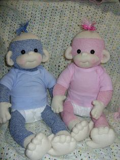 Baby sock monkies these are too cute the little faces :P