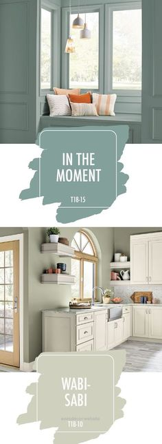 Wonderful Looking for a little paint color palette inspiration for your next DIY home makeover project? Check out this combination of In the Moment and Wabi-Sabi, from the 2018 BEHR Color Trends. ..