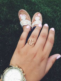 Monogram ring for when you don't wanna risk losing your engagement and wedding rings.
