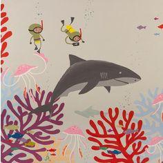 An under water scuba diving adventure exploring the world of the ocean.   #jellyfish #sharks #divers #scubadivingart #coral #fish #scubadivers
