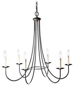 farmhouse chandelier | six light iron chandelier traditional-chandeliers