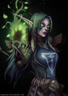 [C] Night Elf Druid by hannelArt.deviantart.com on @DeviantArt