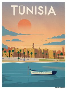 Tunisia Poster by IdeaStorm Studios ©2016. Available exclusively at ideastorm.bigcartel.com