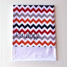 Monogrammed Blanket Chevron Monogrammed Blanket by mylittlemookie, $49.00