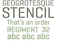 Geogrotesque Stencil –Quite hard