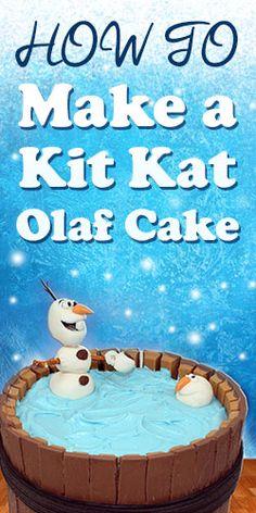 How To: Make A Kit Kat Olaf Cake