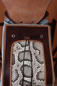 01f123719cc6 Рюкзаки ручной работы. Женский рюкзак со вставками из кожи питона. Narmo  leather workshop.. Ярмарка Мастеров. Тиснение