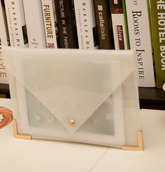 Transparent Office Men & Womens Envelope Clutch Bags Handbag Paper Bag File package white