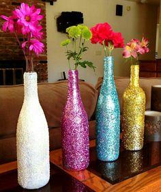 Botellas con glitter