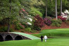 Ben Hogan Bridge at Augusta National Golf Course. Home of the Masters Tournament