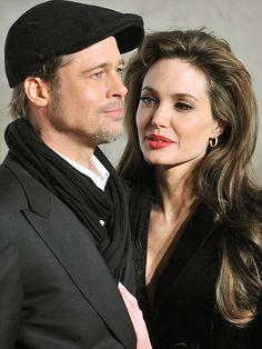 Do I even need to say who these people are......Brad and Angelina of course.