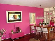 Hot Pink Wall Household Cleaning Tips Diy Products Hacks Room