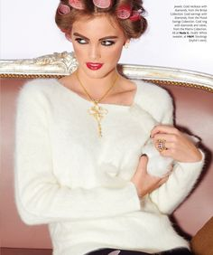 Nada G, the elegant bridal #necklace along with Mood Swings #earrings and Matrix #ring, a perfect combination. Image courtesy of #Umagazine.