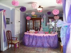 Hey, I found this really awesome Etsy listing at http://www.etsy.com/listing/48945109/princess-party-10-pomspick-your-colors