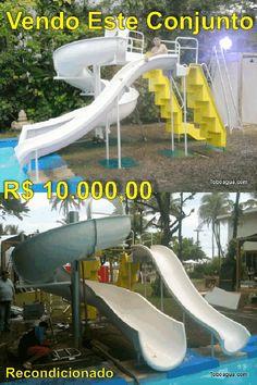 Vendo este toboagua Recondicionado, altura 3m, sem bomba, sem frete, sem instalação. R$ 10.000,00
