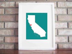 Thinking about getting this style art piece of each state we've lived in since married to hang on our wall
