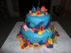 Coolest Nemo Birthday Cake For A 3 Year Old Boy This Website Is The Pinterest Of Ideas