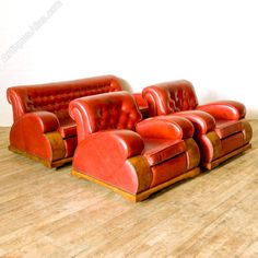 Antique Art Deco Lounge Suite
