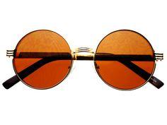Stylish Gold Metal Retro Vintage Circle Round Sunglasses R1812 – FREYRS - Beautifully designed, cheap sunglasses for men & women