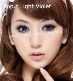 Pop.c Light Series - Violet color circle lens. | Shop @ ContactLensHouse.com