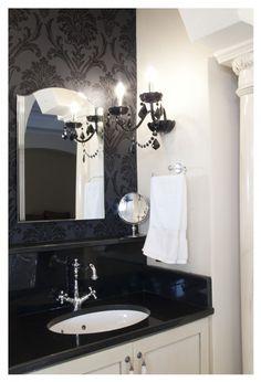 Glamour black & white Bathroom, powder room