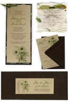 Eco-Friendly Invitation Ideas #wedding