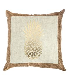 Look at this Gold Foil Pineapple Outdoor Pillow on #zulily today!