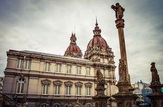 Ayuntamiento de A Coruña desde la Plaza ele Marques de San Martin (A Coruña - Spain)