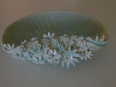 Handmade Pottery Flower and Petal Bowl Light by ThePotteryGrove