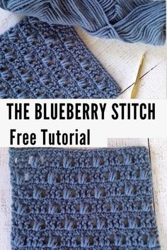 Learn how to crochet the Blueberry Stitch with this free crochet tutorial A beautiful bobble stitch pattern crochettutorial crochet crochetpattern freecrochetpatterns crochetaddict crochetlove Crochet Stitches Free, Bag Crochet, Crochet Basics, Crochet Blanket Patterns, Knitting Stitches, Crochet Crafts, Crochet Baby, Crochet Projects, Free Crochet